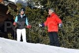 Michael Middleton chatted with daughter Pippa Middleton on the mountain during their ski vacation in France.