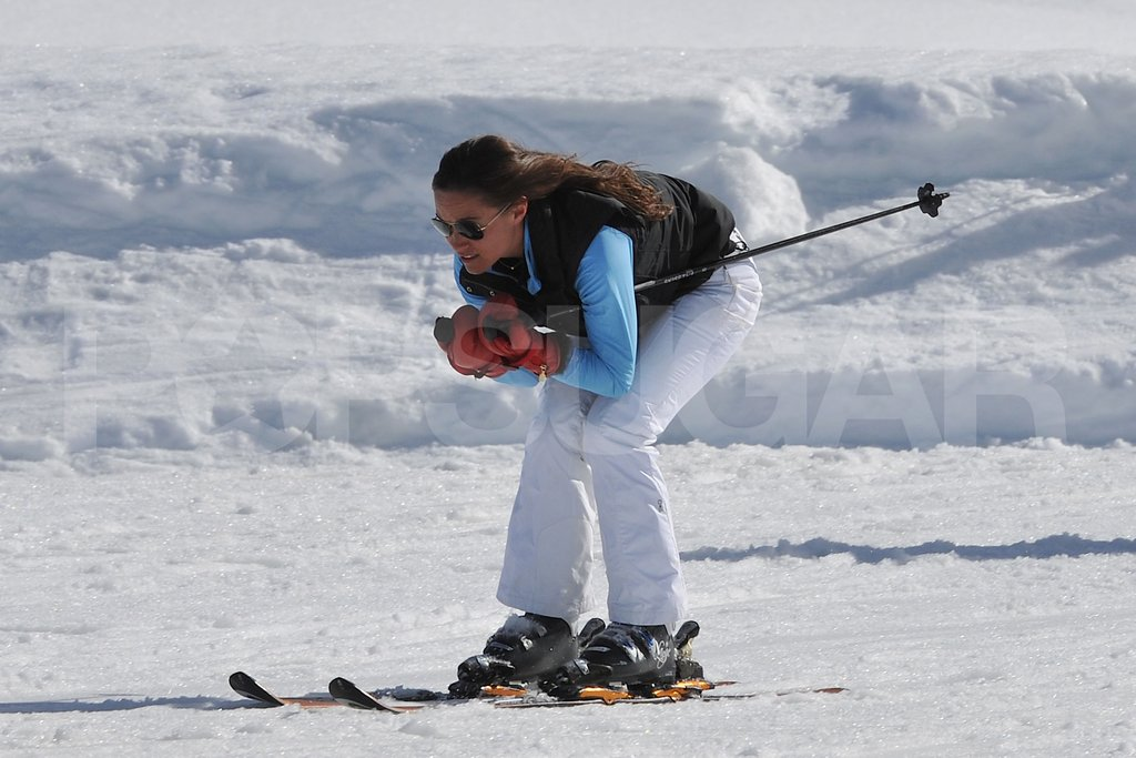 Pippa Middleton flew down the slopes in France.