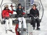 Pippa Middleton and Carole Middleton had fun on their lift ride up the mountain on a ski vacation in France.