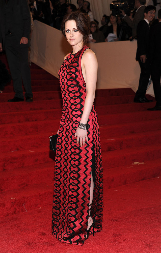 Kristen Stewart looked elegant at the Alexander McQueen Savage Beauty Met Ball in May 2011 in NYC.