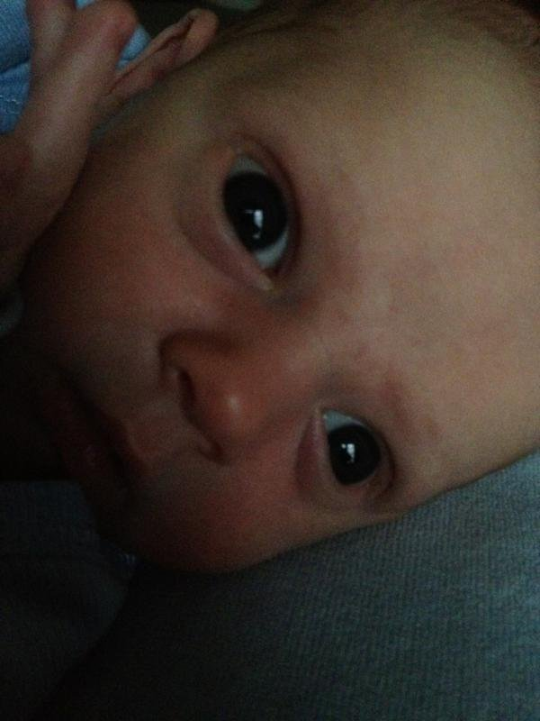 Hilary Duff tweeted another photo of Luca's face.