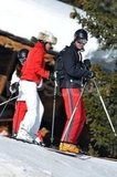 Prince William headed down the slopes with Carole Middleton in France.
