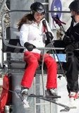 Kate Middleton got ready to hop off the chairlift while on a ski vacation in France.