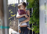 Miranda Kerr and Flynn headed to yoga in LA.