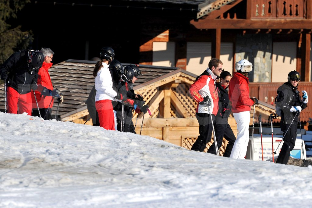George Percy, Kate Middleton, and Michael Middleton made their way to the slopes on a ski vacation in France.