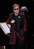 Elton John at the Revlon Concert for the Rainforest Fund at Carnegie Hall in NYC.