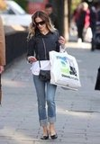 Sarah Jessica Parker carried and Duane Reade shopping bag as she walked down the street in NYC.