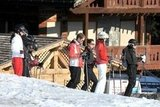George Percy, Kate Middleton, and Michael Middleton hung out on the slopes on a ski vacation in France.