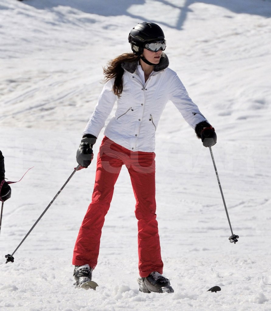 Kate Middleton showed off her skiing abilities in France.