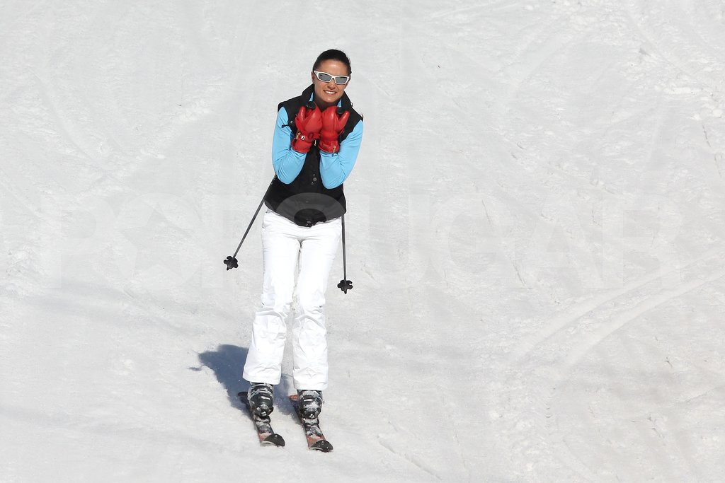 Pippa Middleton carved her way down the slopes in France.
