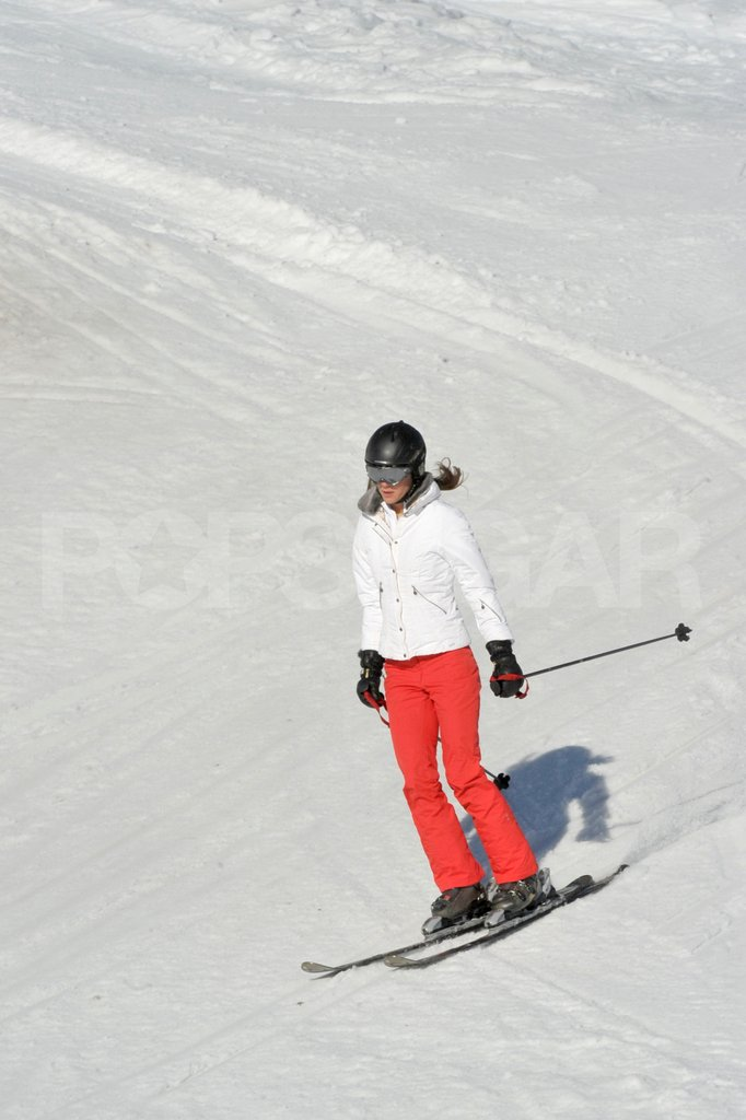 Kate Middleton went flying down the mountain on her skis in France.