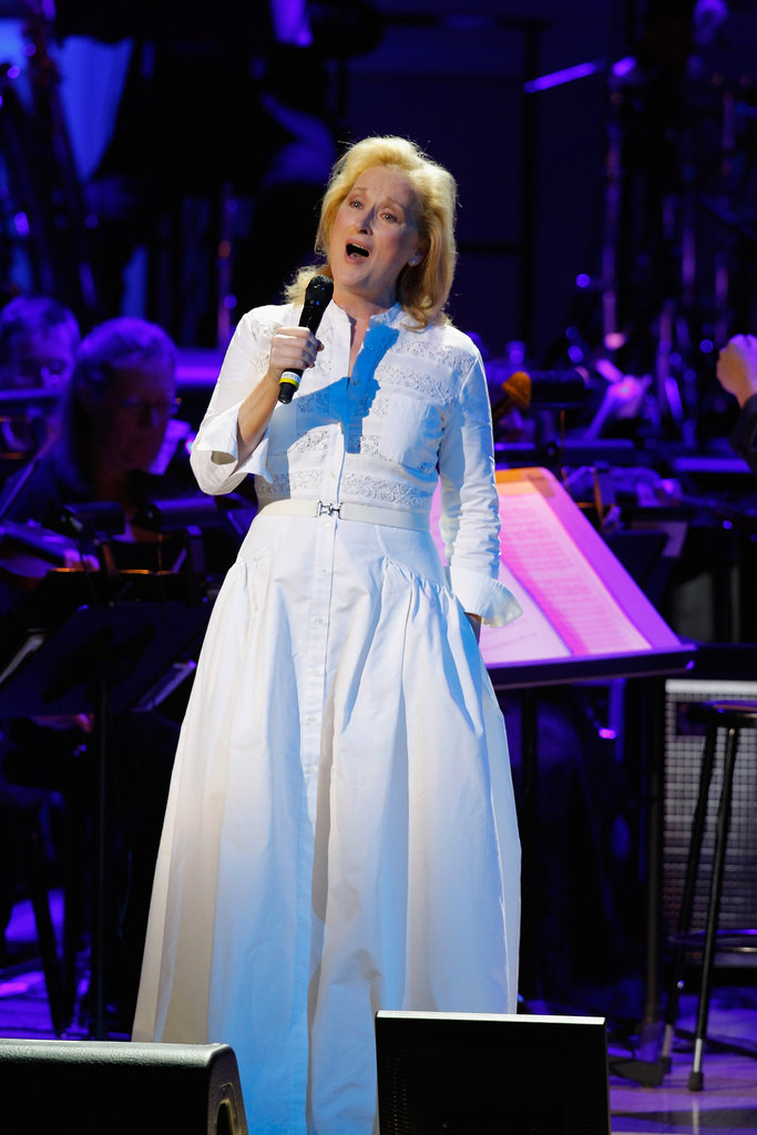 Meryl Streep sang at the Revlon Concert for the Rainforest Fund at Carnegie Hall in NYC.