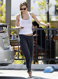 Miranda Kerr on her way to yoga in LA.