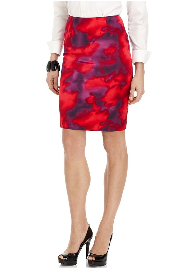 We love the sultry edge to this tie-dye-style pencil skirt — plus, it hits just above the knee, giving it a much sexier feel. Jones New York Slim Printed Pencil Skirt ($99)