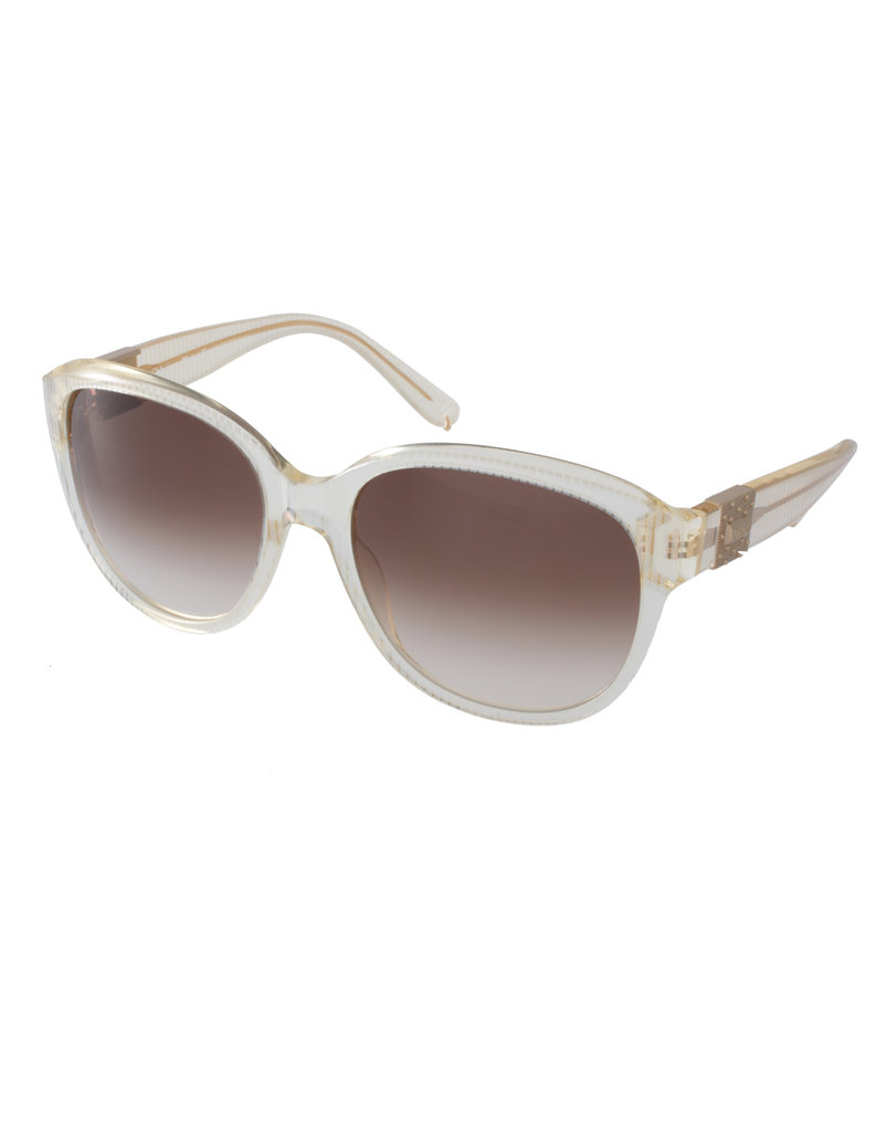 Chloe Clear Striped Sunglasses ($385)