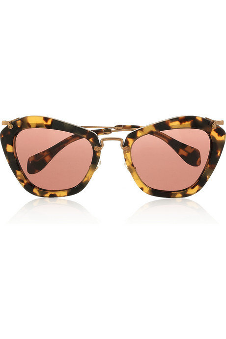 Miu Miu Cat-Eye Frame Tortoiseshell Acetate ($390)