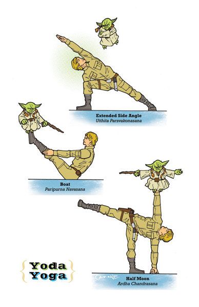 Star Wars meets yoga? Yes, please! Sign me up for this clever Yoda Yoga ($19) poster. If Yoda and Luke aren't your guys, you can get a poster of the whole galaxy in the same vein.