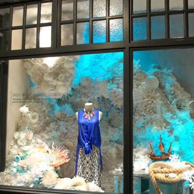 Anthropologie Earth Day Window Displays