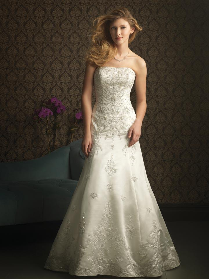 strapless wedding dresses ivory