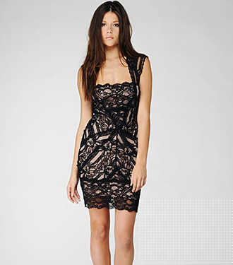 Nicole Miller lace dress ($385)
