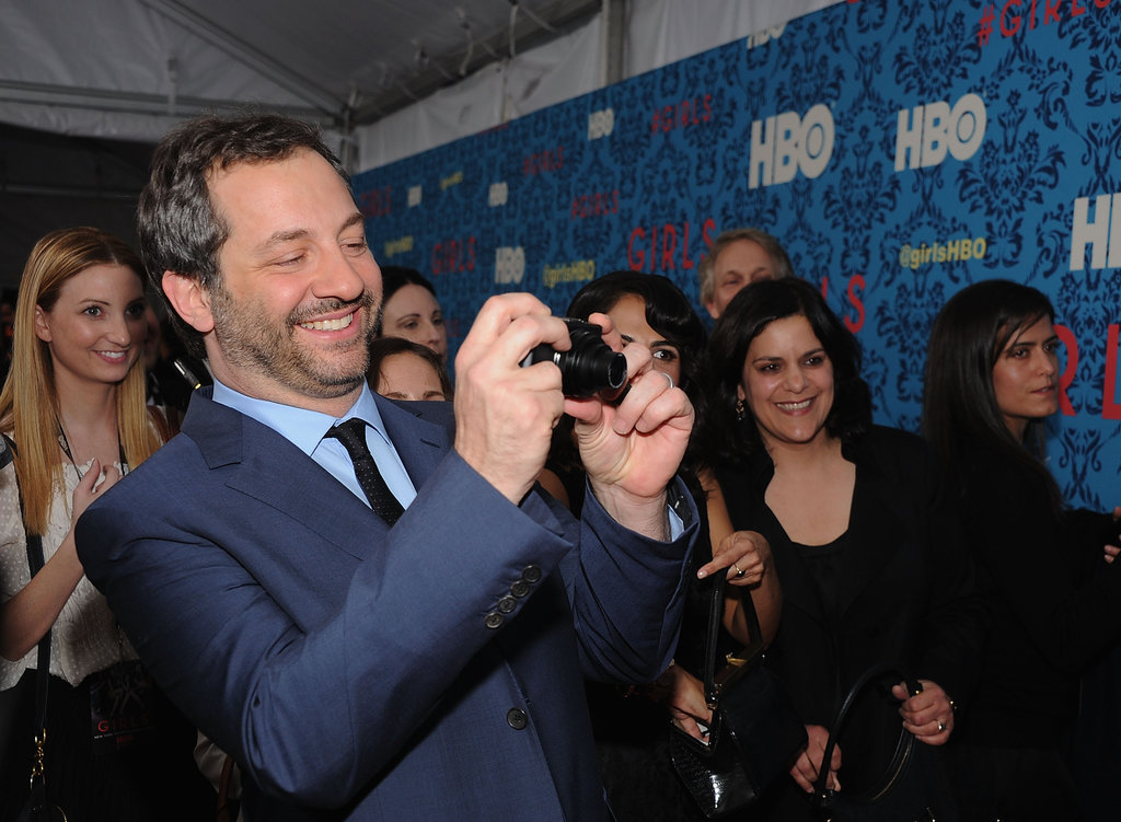 Judd Apatow got out his own camera at HBO's Girls premiere in NYC.