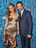 Leslie Mann with husband and producer Judd Apatow at HBO's new series Girls' premiere in NYC.