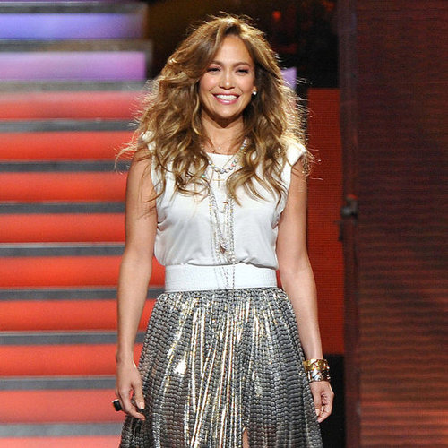 Jennifer Lopez on American Idol 80s Night Pictures