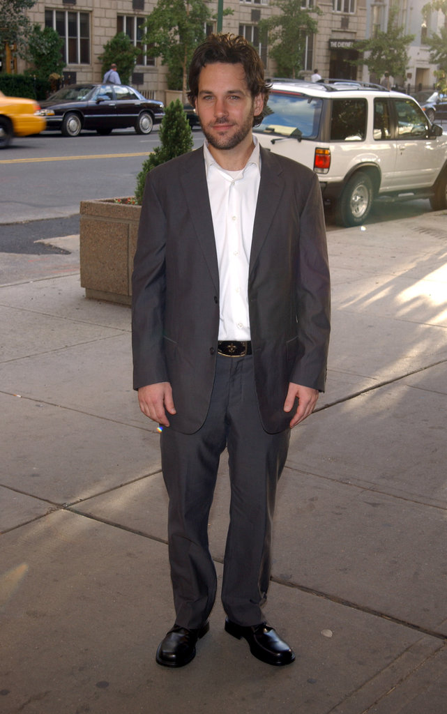Paul Rudd was fresh-faced for an Aug. 2002 premiere of The Chateau in NYC.