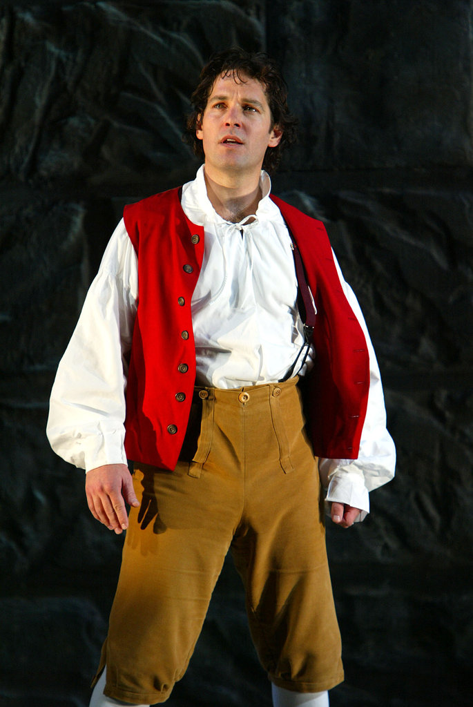 Donning a costume, Paul Rudd appeared in The Play What I Wrote in NYC during May 2003.