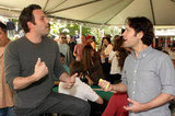 Paul Rudd and Ben Affleck caught up at the May 2011 Playing For Good poker event.