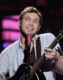 Phillip Phillips was joined on stage by his brother on back-up guitar.