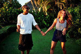 How happy do they look? Beyoncé Knowles and Jay-Z shared a picturesque vacation moment.
