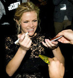 Brooklyn Decker was delighted to meet with fans.
