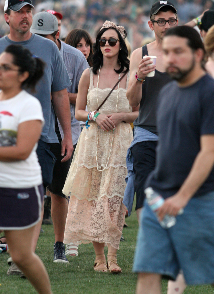 Katy Perry was spotted in the crowd in 2011.