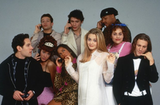 Paul Rudd posed for a photo with his Clueless costars Alicia Silverstone, Stacey Dash, Breckin Meyer, Brittany Murphy, Jeremy Sisto, Elisa Donovan, Justin Walker, and Donald Faison.