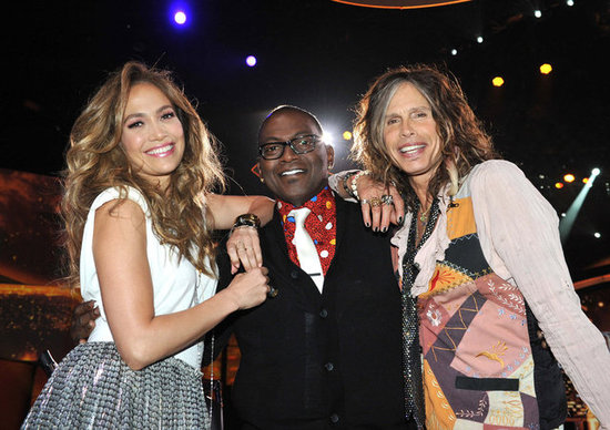 Jennifer Lopez, Randy Jackson, and Steven Tyler snapped a photo during the show.