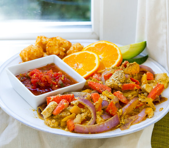 Who says carrots can't be a part of a healthy breakfast? I'm loving this inventive vegan recipe for a citrus carrot tofu scramble.