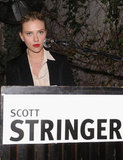 Scarlett Johansson said a few words on behalf of friend Scott Stringer, who is a 2013 candidate for mayor.