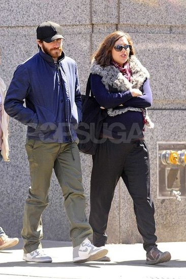 Jake Gyllenhaal sported a full beard while he caught up with his pregnant sister Maggie Gyllenhaal in NYC.