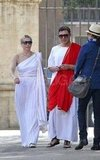 When in Rome — Chelsea Handler and Her Boyfriend Tour Italy in Togas