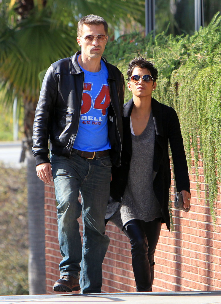 Halle Berry and Olivier Martinez spent a day together.