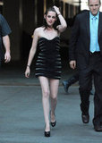 Kristen Stewart turned heads at a friend's premiere in LA in a super short Azzaro dress in June 2010.