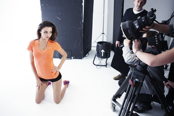 Miranda Kerr posed for Reebok.