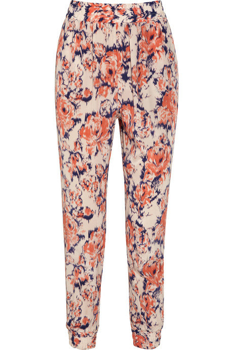These printed pants would double as our go-to office trousers post-Easter day festivities.  Tucker Printed Silk Straight-Leg Pants ($325)