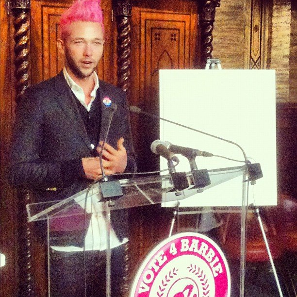 We caught up with designer Chris Benz at the launch of Barbie's Glampaign.