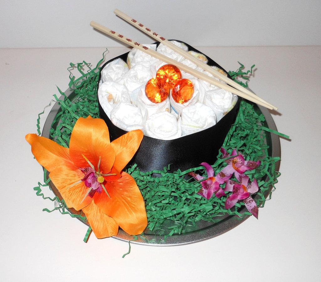 Sushi Diaper Cake