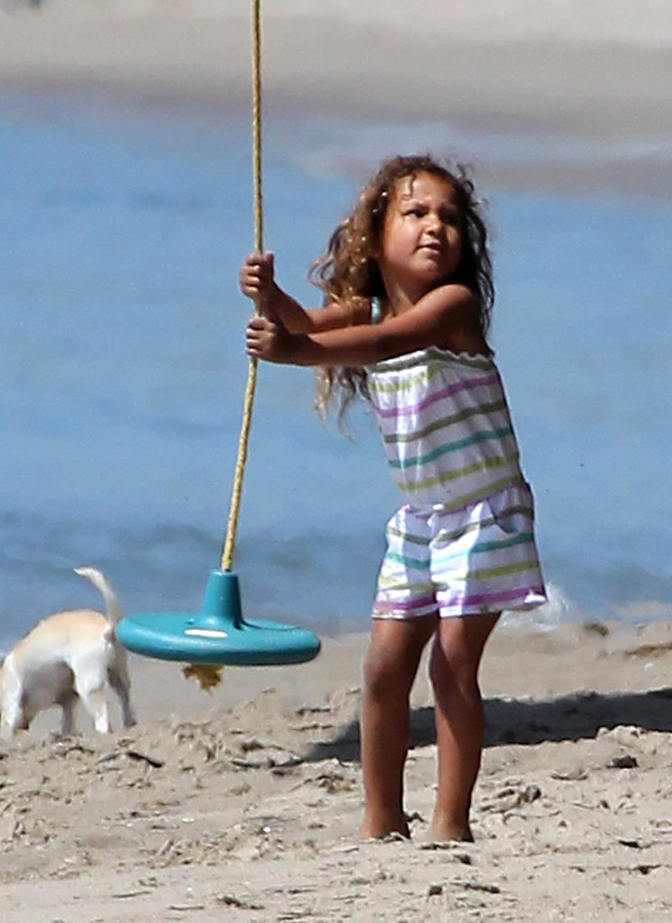 Halle Berry Spends Easter Weekend at the Beach With Olivier and Nahla