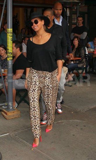 Beyoncé Knowles and Jay-Z went to one of their favorite NYC restaurants, Bar Pitti.