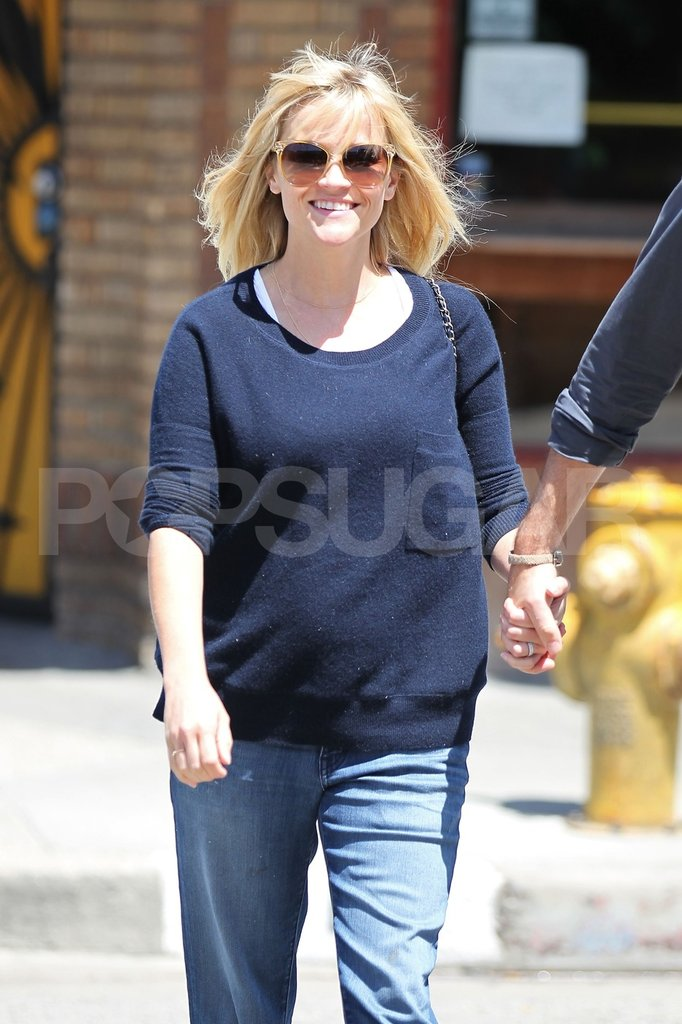 Reese Witherspoon smiled en route to lunch.