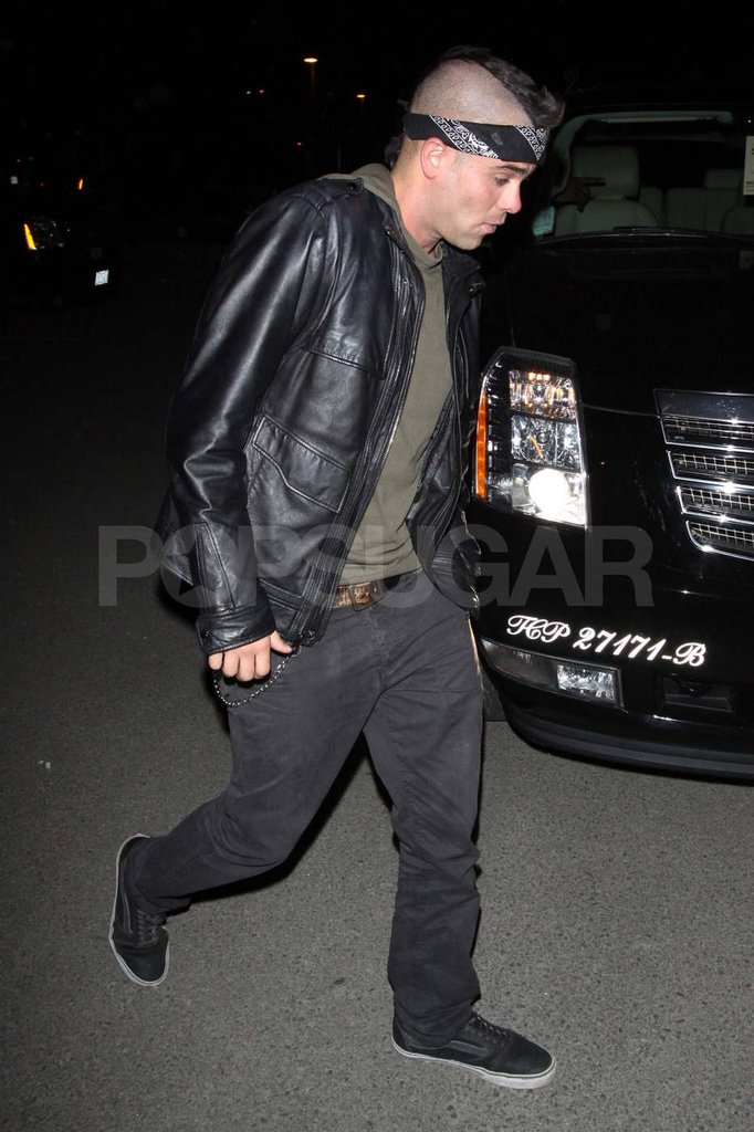 Mark Salling arrived at the desert party.
